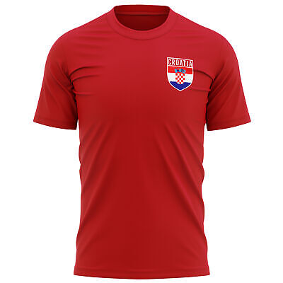 £9.95 • Buy Retro Croatia Flag Badge T Shirt Football Country Supporters Red White Chequers