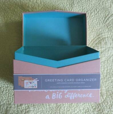 £11.34 • Buy NEW Hallmark Greeting Card Organizer BOX Birthday Holiday Gift Envelope Storage