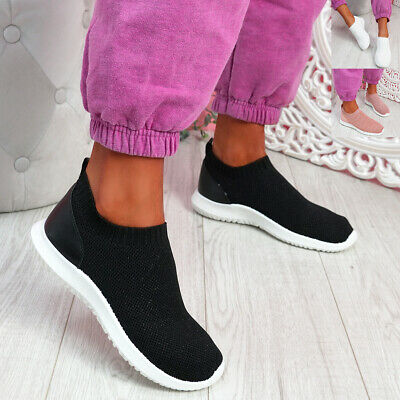 $ CDN22.49 • Buy Womens Knit Trainers Ladies Running Sneakers Sport Gym Women Shoes Size