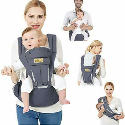 Baby Carrier Ergonomic With Hip Seat/Pure Cotton Lightweight And • 70.99£