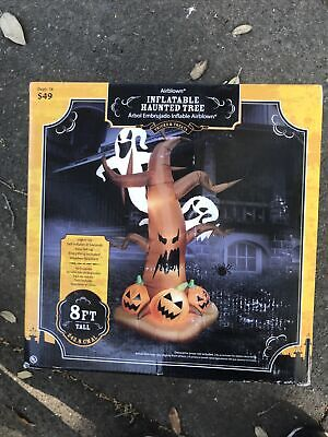 $ CDN168.04 • Buy Halloween Gemmy 8 Ft Airblown Inflatable Scary Tree Ghost Pumpkins In Retail Box