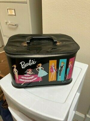 $ CDN66.51 • Buy Vintage Barbie Doll Black Vinyl Travel Train Case 1961