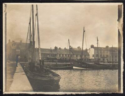 AU17.74 • Buy Vintage Photograph Of Fishing Boats At Stornoway? Harbour Isle Of Lewis (C61546)