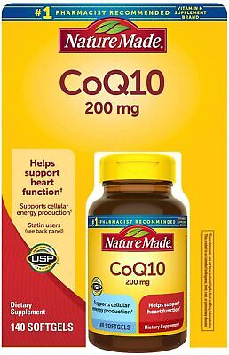 $ CDN44 • Buy Nature Made CoQ10  Coenzyme Q10 Heart Support, 200 Mg, 140 Softgels 01/24