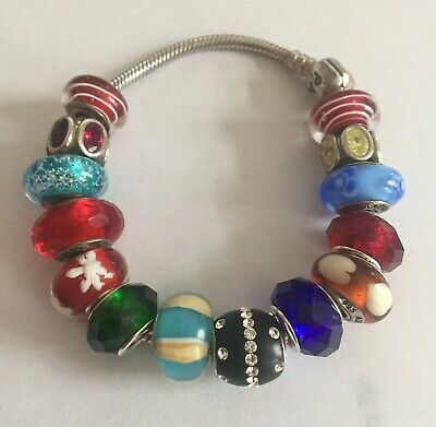 AU181.71 • Buy Authentic Pandora 925 Sterling Silver Charm Bracelet 14 Charms Beads