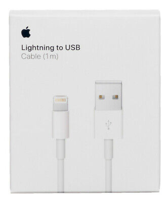 AU11.99 • Buy Apple 1m Lighting Charger Cable For IPhone And IPad-White (MD818ZM/A) - Genuine