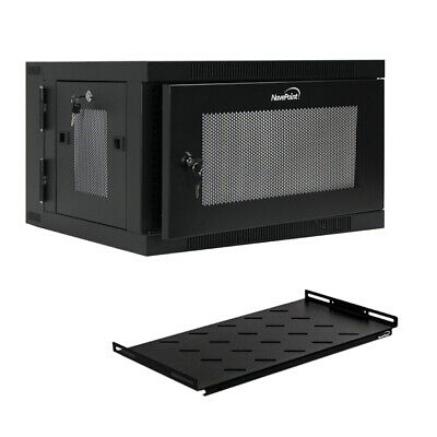 AU327.32 • Buy 6U Wall Mount Hinged Swing Out Perforated Server Network Rack Cabinet W/Shelf