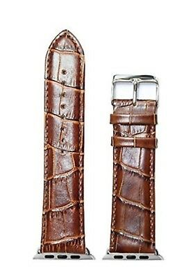$20.86 • Buy Synthetic Leather I Watch Brown Strap With Adjustable Clasp At Desired Size-38mm
