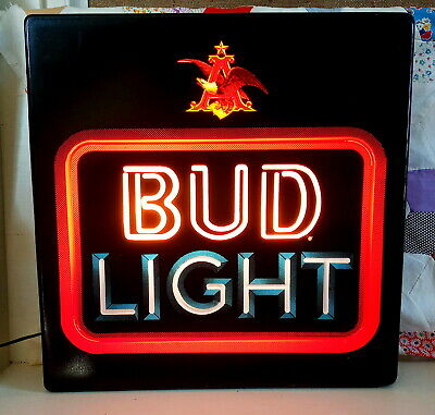 $ CDN119.75 • Buy Vintage Budweiser Light Lighted Wall Sign Neon Look 18 X18