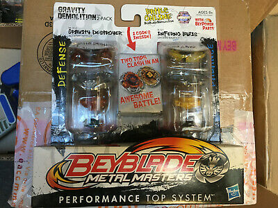 £50.81 • Buy Beyblade METAL MASTERS Gravity Demolition 2 Pack Destroyer BB-80A And Byxis B121