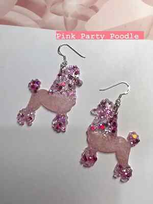 £11 • Buy Poodle Dog Earrings. Free P&P Resin & Sterling Silver. Pet,  Crufts, Statement