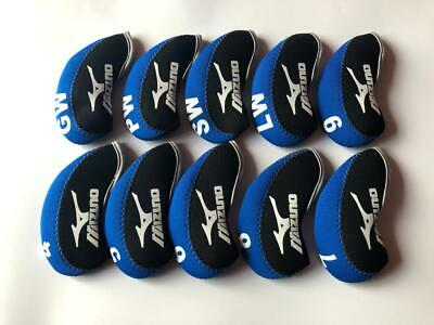AU21.88 • Buy 10PCS Golf Club Covers R/H For Mizuno Iron Headcovers 4-LW Blue&Black Universal