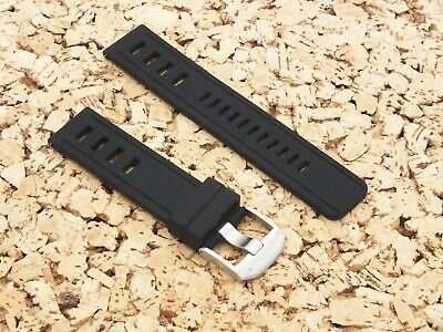ZULUDIVER 1960s Swiss Style Divers Quick Release Watch Strap Black 22mm • 3.99£
