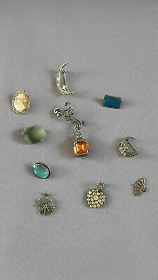 Vintage Brooches And Pendant X 10...butterfly Wing, Lantern, Cameo Etc • 10£
