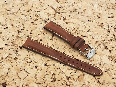 Genuine Italian Leather Quick Release Padded Watch Strap 20mm Brown By Geckota • 7.50£