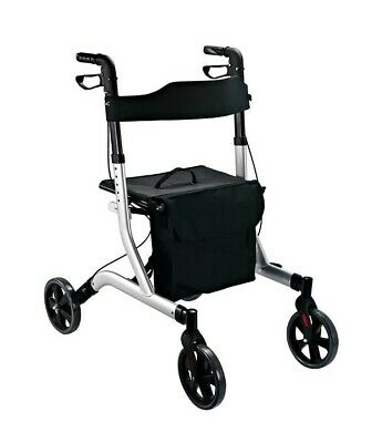 £79.99 • Buy HOMCOM Rollator Lightweight 4 Wheels Walker Mobility Disability Aid - Collection