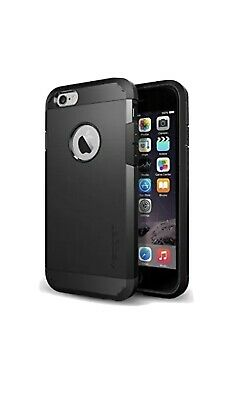 AU32.62 • Buy Spigen Tough Armor Case For IPhone 6 - Air Cushion Technology - Smooth Black-New