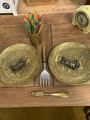 £19 • Buy   Indian Brass PLATES PLUS OTHER ITEMS