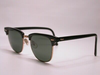 AU32.18 • Buy Vintage Ray Ban Classic Black Gold Club Master Browline Sunglasses Made In USA