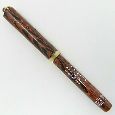 AU257.58 • Buy Excellent Vintage Waterman 52 1/2V Fountain Pen – Red Ripple, Restored