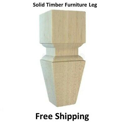 AU50 • Buy 4 X Wooden Furniture Legs Classic Feet Lounge Couch Sofa Cabinet Table Raw