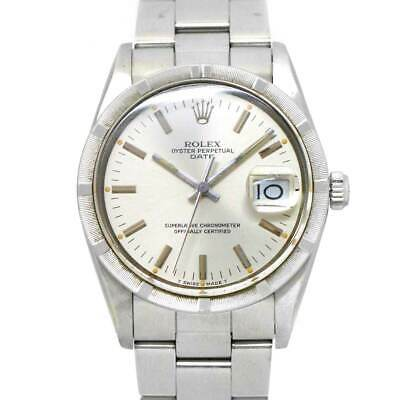 $ CDN4825.67 • Buy ROLEX Oyster Perpetual Date 15010 Automatic Silver Dial Mens Watch 90125494