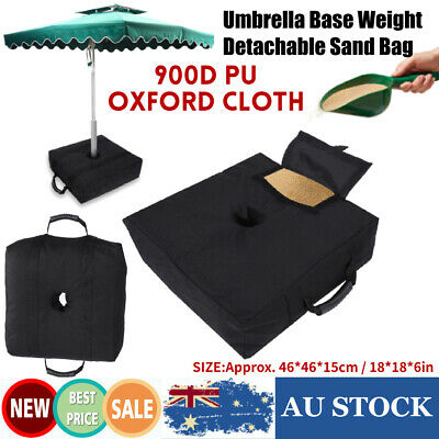 AU19.69 • Buy Outdoor Patio Umbrella Base Stand Movable Sand Weight Bags For Offset Cantilever