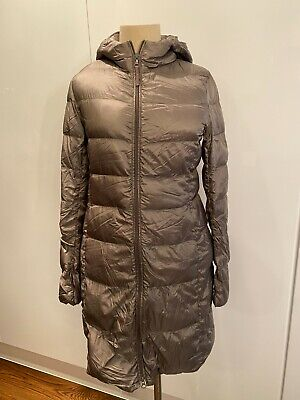AU64.99 • Buy Uniqlo | Ultra Light Down Long Puffer Jacket Hooded | Small S | Womens | Bronze