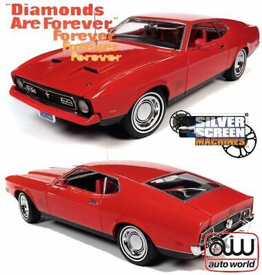 AU199.99 • Buy 1:18 Ford Mustang Mach 1 -- James Bond Diamonds Are Forever -- Auto World