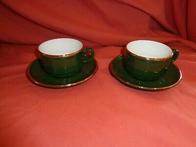 £24.99 • Buy French Apilco Small  Bistro Coffee Cup  Saucer Yves Deshoulieres 8 Across X 2