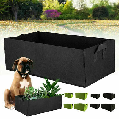 £4.99 • Buy 2PCS Raised Garden Bed Rectangle Breathable Planting Container Grow Bag 40*30*20