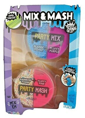 AU14.13 • Buy SLIME KIT-MIX & MASH Party Mix: 2 Pack Super Stretchy FOAM & SLIME
