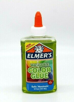 AU7.70 • Buy New Elmers Transparent Colored Liquid Glue 5oz Green Washable Great For Slime