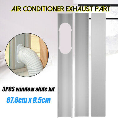 AU42.07 • Buy 3Pcs Air Conditioner Adjustable Window Plate Kit Portable Exhaust Hose Board