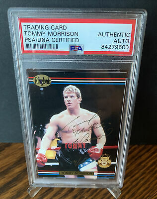 £123.62 • Buy 1991 Ringlords Tommy Morrison Signed Rookie Card Mint Auto 14/25 RC Rare PSA Coa
