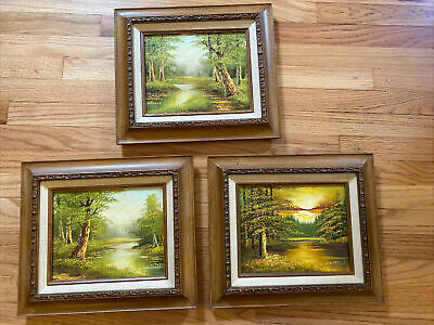 $ CDN255.20 • Buy Lot Of 3 Phillip Cantrell Framed Paintings Landscape Scenes Very Nice