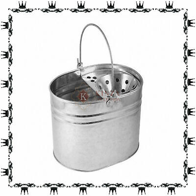 £10.49 • Buy Heavy Duty Metal Mop Bucket Galvanised Strong 12 Litre Capacity For Cleaning New
