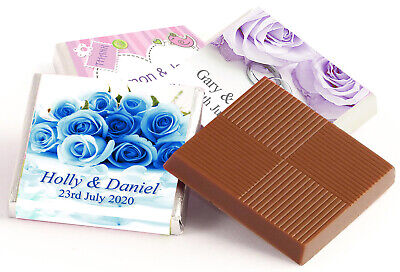 £10.99 • Buy 50 Personalised Chocolate Thank You Favours   Add Your Own Business Logo