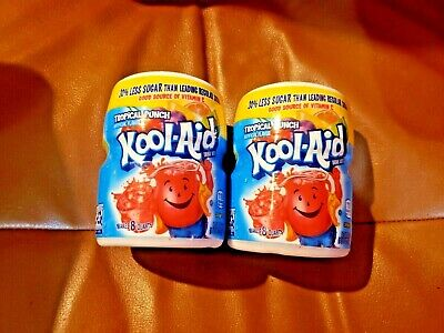 £16.91 • Buy Kool-Aid Sweetened Tropical Punch Powdered Drink Mix - 2 Containers/ 36 Servings