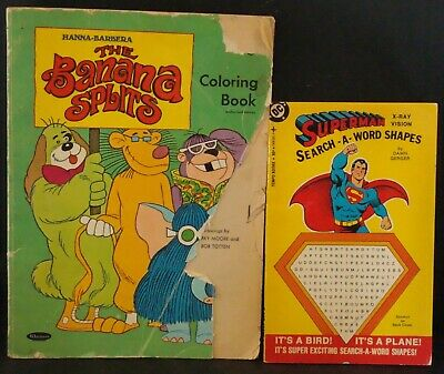 £8.73 • Buy Vintage 1969  THE BANANA SPLITS  Coloring Book W/ Superman Word Search Book! WoW