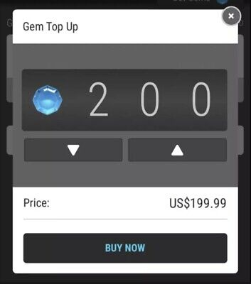 $185 • Buy 200 Gems For VEVE Discount Price NFT