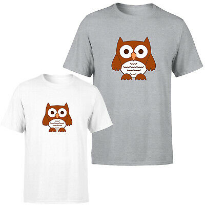 £9.99 • Buy Cute Owl Mens Womens T Shirt Funny Birds Graphic Novelty Unisex Gift Tee Top