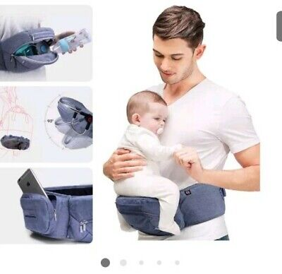 Bebamour Baby Carrier Hip Seat Foldable Baby Carrier 0-36 Months Baby Seat 3in1, • 14£