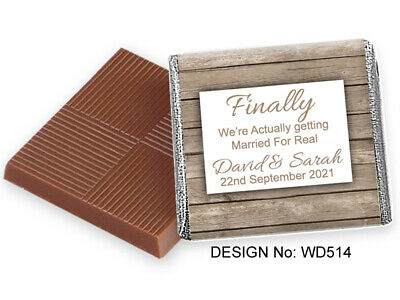 £11.99 • Buy 50 Personalised Chocolate Wedding Favours, 100s Of Quality Designs To Choose