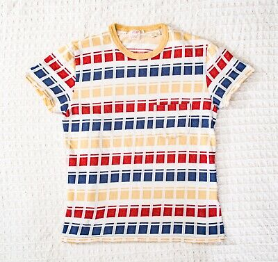 AU53.48 • Buy Levi's Vintage Clothing 1960's Casuals Stripe Jaquard T-Shirt - Small - LVC