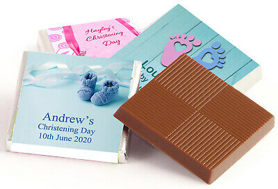 £9.75 • Buy 50 Personalised Chocolate Favours, For Christening Large Selection & Free Post