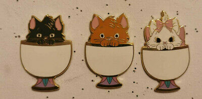 $ CDN85.20 • Buy The Aristocats In Chip Cups Toulouse Berlioz Marie Set Of 3 Disney Fantasy Pin