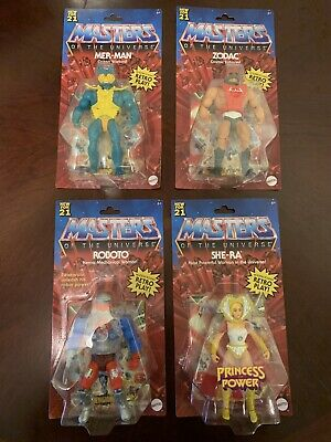 $90 • Buy Masters Of The Universe Origins Wave 3 Mer-man Zodac She-Ra Roboto Set Of 4 NEW