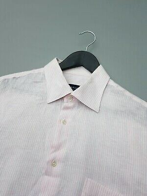 £5.50 • Buy Canali Linen Striped Shirt Size 17.5 /2xl Excellent Condition!
