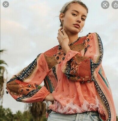 $ CDN143.15 • Buy Anthropologie Bhanuni Rosario Embroidered Blouse Long Sleeve Size L NWT